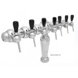 Monaco tower 6 faucet chrome air cooled