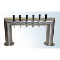 "4"" Pass Thru tower 6 faucet brushed SS 30""W glycol cooled (faucets and handles sold separately)"