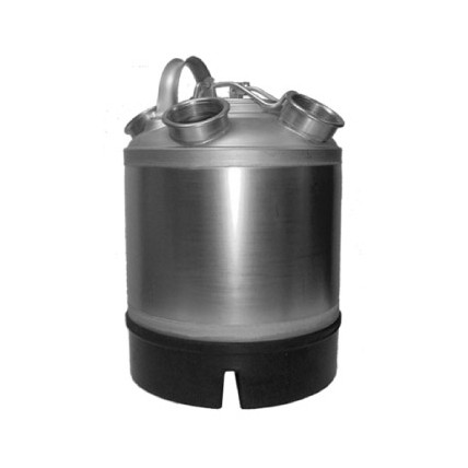 """2.5 gal SS cleaning can with 1 """"A"""" and 1 """"S"""" valve"""