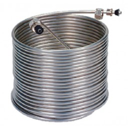 "50' left stainless steel coil, 9"" coil diameter"
