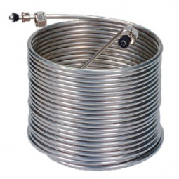 "50' right stainless steel coil, 9"" coil diameter"