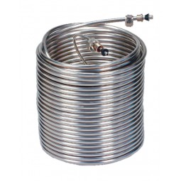 """120' left stainless steel coil (100' x 3/8"""" OD + 20' x 1/4"""" OD), 9"""" coil dia."""
