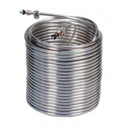 """120' rt. stainless steel coil (100' x 3/8"""" OD + 20' x 1/4"""" OD), 9"""" coil dia."""