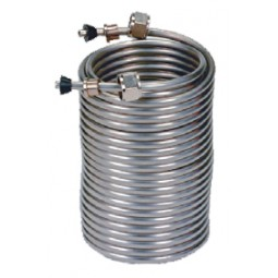 "50' left stainless steel coil, 5"" coil diameter"