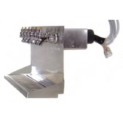 "Wall mount dispenser 24""W stainless finish 5 faucets"