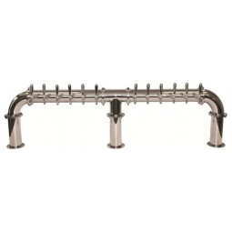 Lions Gate column 12 faucet polished SS (faucets and handles sold separately)