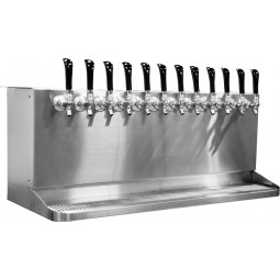 Underbar 40'' cabinet dispenser with drip tray, 10 faucets, glycol cooled