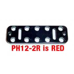 Button plate, 12, red