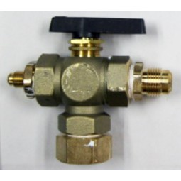 "Valve, 1/2"" 3-way test valve for booster tank (Coke pt#132956)"