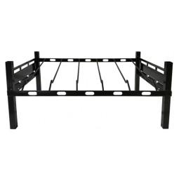 "BIB rack, 2 box wide, incline shelf with glides 27W x 17D x 12""H"