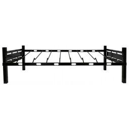 "BIB rack, 3 box wide, incline shelf with glides 39W x 17D x 12""H"