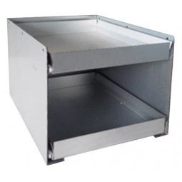 BIB drawer tower, two 5-gal BIB capacity, flat shelves