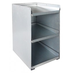 BIB drawer tower, three 5-gal BIB capacity, inclined shelf