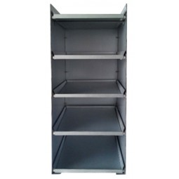BIB drawer tower, five 5-gal BIB capacity, inclined shelf