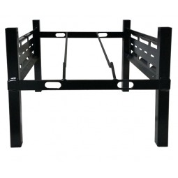 "BIB rack, 1 box wide, incline shelf with glides 15W x 17D x 12""H"