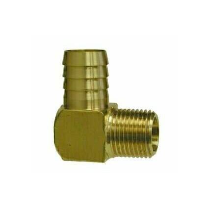 Brass elbow 1/2 barb x 3/8 MPT