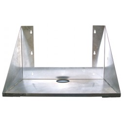 "Carbonator/water booster wall or rack mount shelf, stainless, 19.25W x 16D x 14""H"