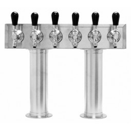 Pass thru tower stainless finish 6 faucets