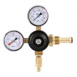 "Primary beer regulator, 1P1P, N₂, CGA580 inlet, 1/4"" flare w/check outlet, 160 lb and 3000 lb gauges"