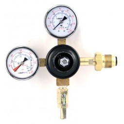"Primary beer regulator, 1P1P, N₂, CGA580 inlet, 5/16"" barb shut‐off w/check, 160 lb & 3000 lb gauges"
