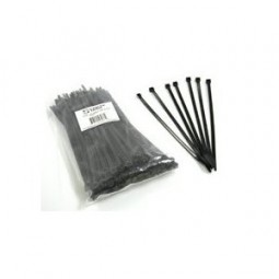 "Cable ties 7"" standard, UV black, 100/bag"
