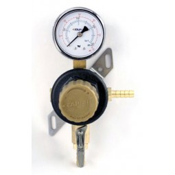 "Secondary beer regulator, 1P1P, 5/16"" barb inlet, 5/16"" barb shut‐off, 60 lb gauge"