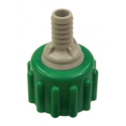 BIB connector, green plastic, 3/8""