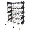 BIB vertical rack assy, 4x3, top pump mount, 12 pumps, connectors, reg set, line labels