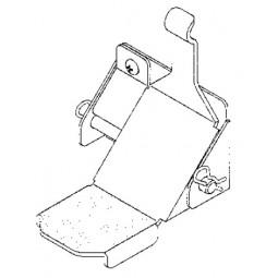 One door foot pedal, left hand hinge