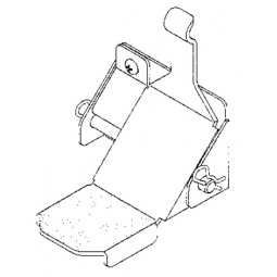 One door foot pedal, right hand hinge