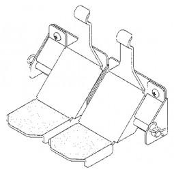 Two door foot pedal
