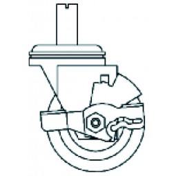 """2.25"""" Casters (set of four, two with brakes) ADA 1 & 2 section undercounters"""