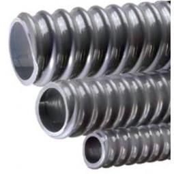 """Tigerflex non-insulated corrugated gray PVC drain tubing 3/4""""ID x 1-1/16""""OD 25'"""