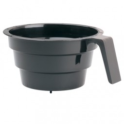 Black plastic brew basket with ridges