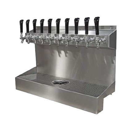Kronos 18 Dispenser Drip Tray And Glass Rinser 6 Faucets