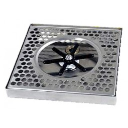 "Surface mount drip tray with center rinser 8"" x 7/8"" x 8"""
