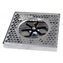 """Surface mount drip tray with center rinser 8"""" x 7/8"""" x 8"""""""