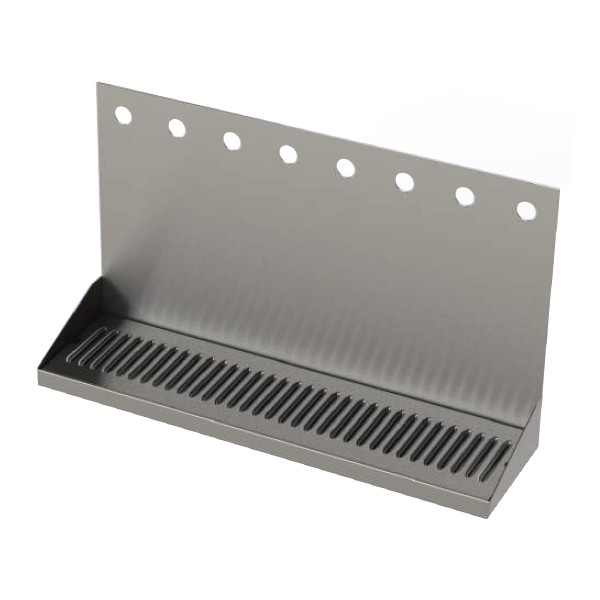 Stainless Steel Wall Mounted Drip Tray With Drain 3 Faucet