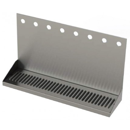 Stainless steel wall mounted drip tray with drain 16 faucet holes 48 ...