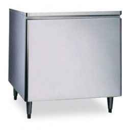 "Ice dispenser stand, no doors, 34.3W x 28.3D x 32.5""H"