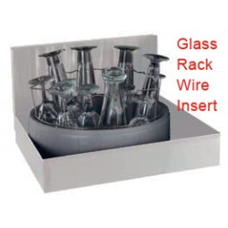Glass rack insert for stemware