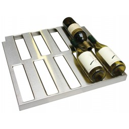 "Wine rack shelf SS slots for 5 bottles for ND with 2"" thick walls, 16"" door opening"