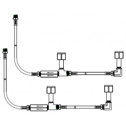 CO2 CGA-320 hose assembly, dual cylinder