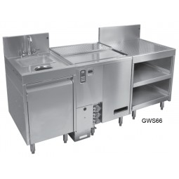 Glasswasher station, GW24 + SWB-18-DW + DBGR-24-RS