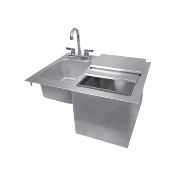 Drop In Sink And Ice Unit, No Faucet, No Drainboard. Loading Zoom