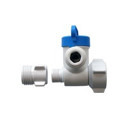 Angle stop adapter valve 1/2 thread male female NPS x 3/8 thread compression x 1/4 tube OD