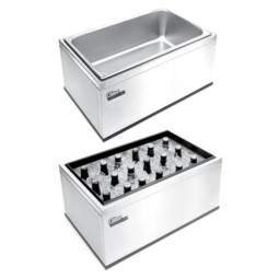 "Portable countertop ice bin 22""W x 14""D x 10""H"