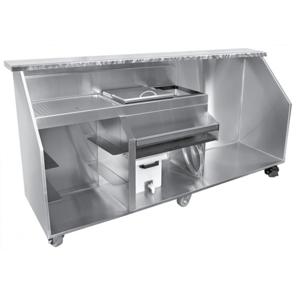 Portable Bar For Glware With E Refrigerator 90 Long 12 Tail Ice Bin Loading Zoom