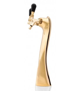 Lucky tower 2 faucet gold glycol cooled, LED medallions