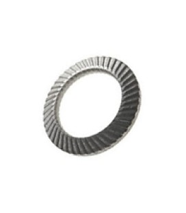 Metal grooved lock washer